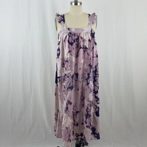 Madewell Tie Dye Maxi Ruffle Dress